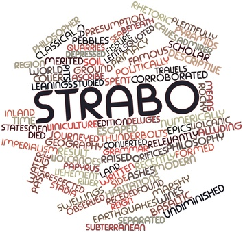 Word cloud for Strabo